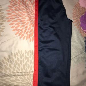 Sweatpants for boys navy blue with red stripes